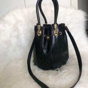Valentina bucket bag in black